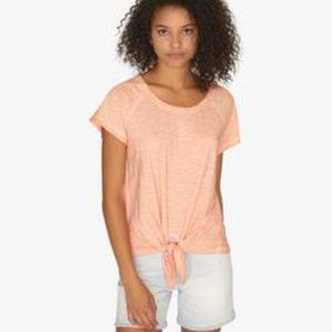 Sanctuary Lou Tie Tee Top Washed Tangerine S